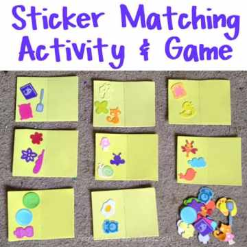 A homemade matching game