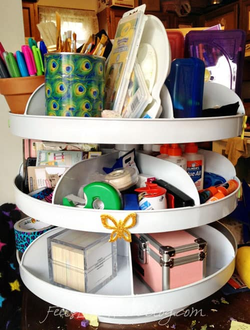 how to organize homeschool supplies