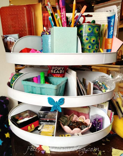 organizing homeschool supplies