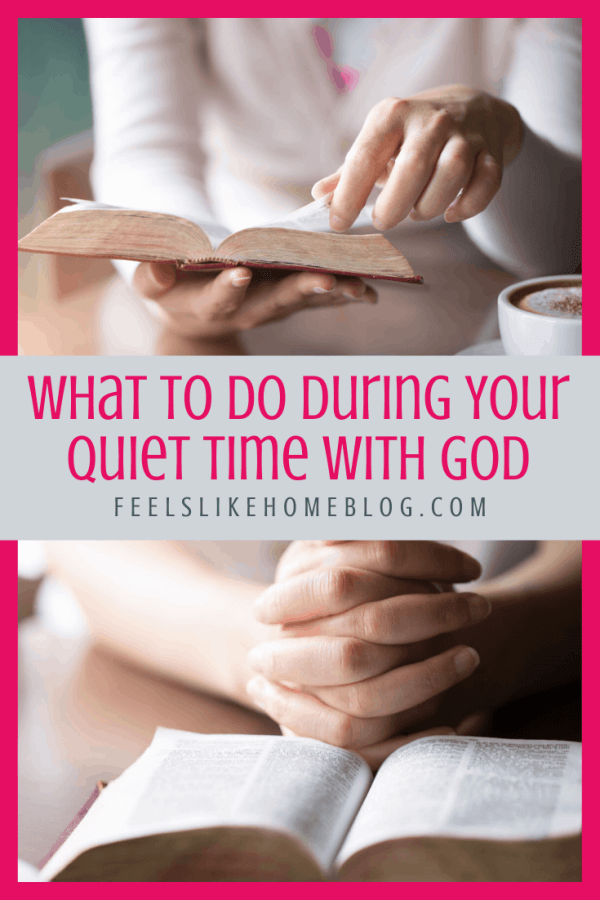 A woman holding a Bible during quiet time