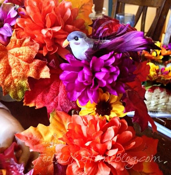 Kids Fall Leaf Wreath Craft - Little bird