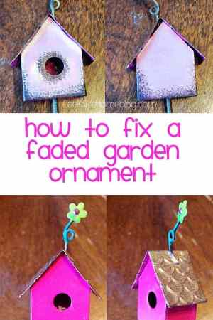 How to Fix a Faded Garden Ornament