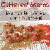 Glittered Acorn Craft for Kids
