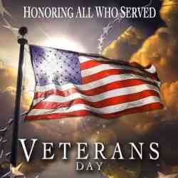 Honoring those who served on Veterans Day