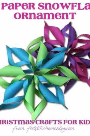 3D Paper Snowflakes - Christmas Crafts for Kids