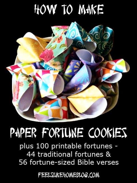 Paper Fortune Cookie Tutorial Feels Like Home