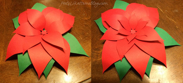 Finish with the red centers in decreasing sizes with the smallest on the top