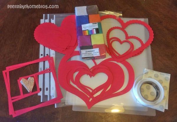 Materials - Easy Valentine Suncatcher Crafts for Kids