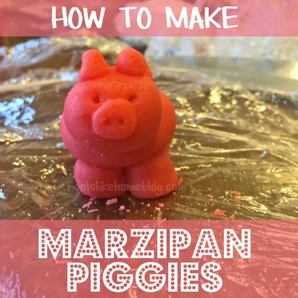 How to Make DIY Marzipan Piggies for Good Luck - Great activity for Christmas or New Years Eve. Could be cake toppers or just a fun candy to eat. Tradition comes from Germany.