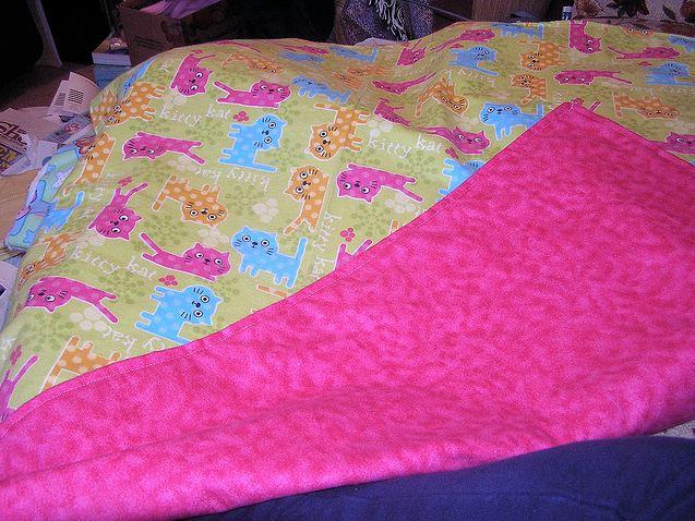 homemade pink changing pad