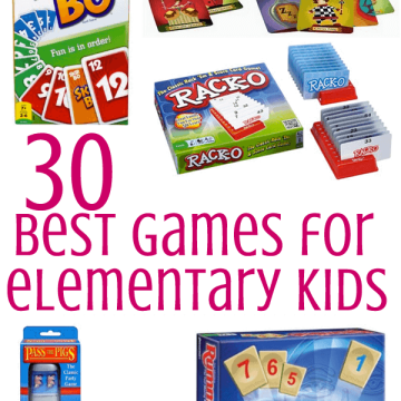 A collage of games for elementary kids