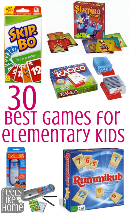 Tips and ideas for the 30+ best simple and easy family game night board, dice, and card games for elementary kids and adults to play together. These games make great gifts to buy and are the perfect addition to any home's game basket. Great to play on Thanksgiving, Christmas, New Year's Eve, or any holiday. Games for all ages to play together.