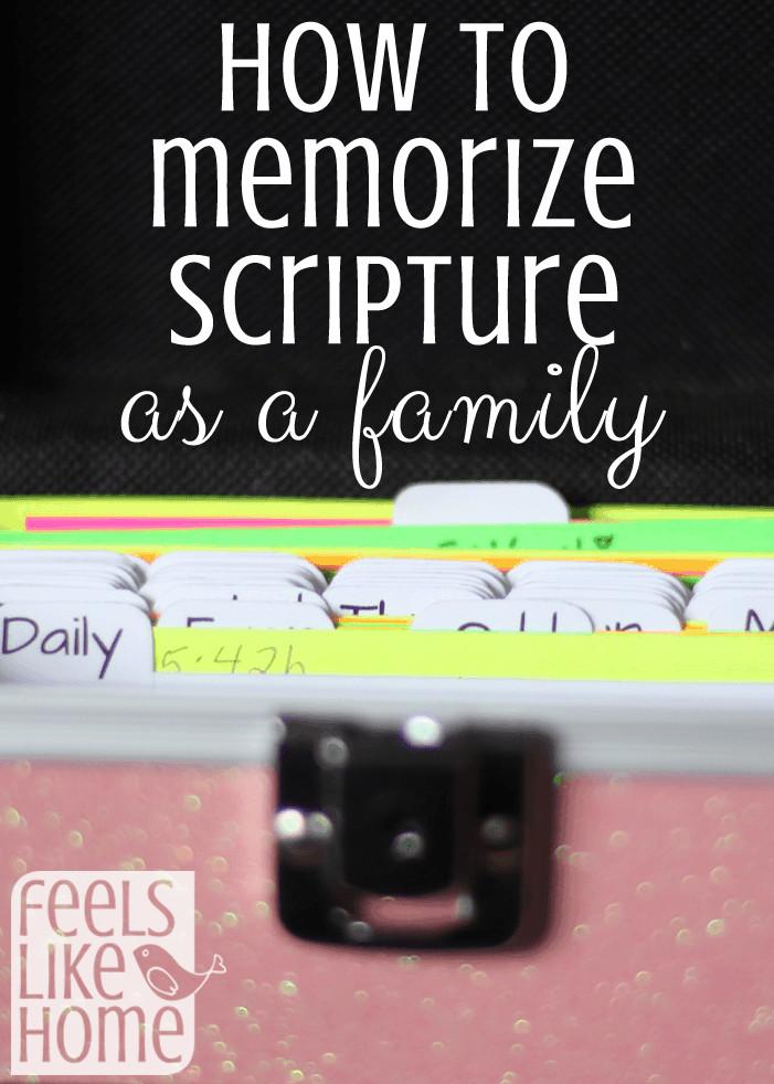 A screenshot of a scripture memory box