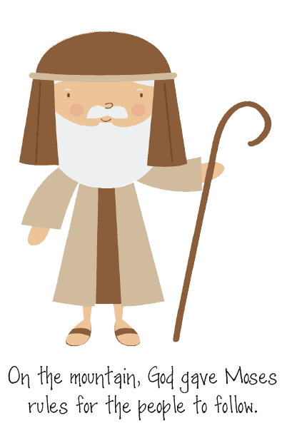 Awesome 10 Commandments activity for kids - This simple, fun, and cute printable for toddlers, preschoolers, kindergarten, or older children is perfect for helping boys and girls to understand the Bible stories about Moses and the 10 Commandments. Great hands on activities for teaching in Sunday School or homeschool. Could be used for a Catholic or LDS lesson or Protestant, any Christian or Jewish faith.
