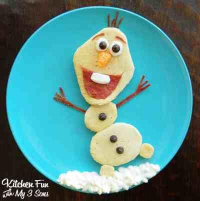 Disney Frozen Olaf pancakes