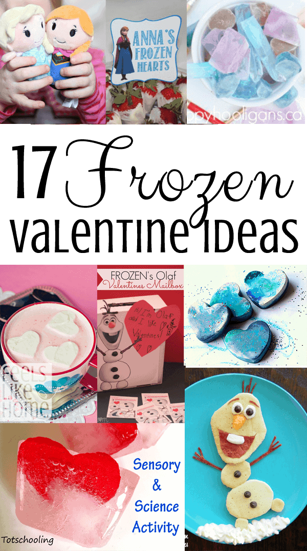 17 Frozen-inspired Valentine's Day party ideas including food, decorations, and much more - Elsa, Anna, and Olaf, too!