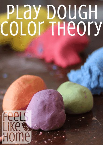 Teaching primary and secondary colors with play dough