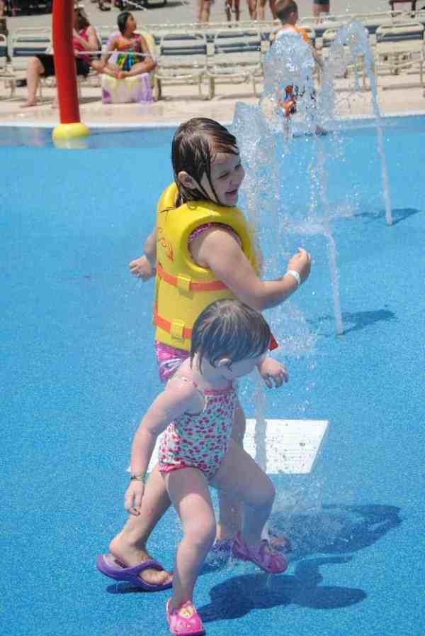 Having fun in The Boardwalk water park at Hersheypark