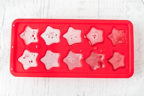 healthy homemade fruit snacks in the mold to harden