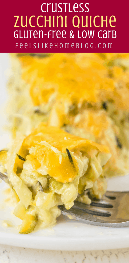 A close up of zucchini quiche