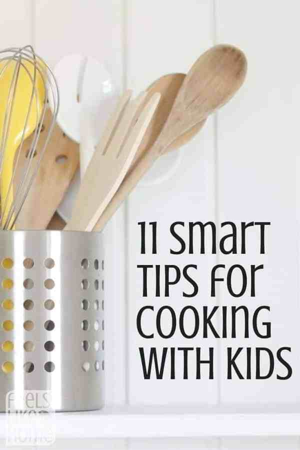 11 Smart Tips for Cooking with Kids - Getting kids into the kitchen is the easy part. How do you get them engaged, enjoying the experience, and helpful? Simple and easy tips, activities, and suggestions for cooking with kids at home or in the classroom. Teaching kids to make a healthy dinner begins with getting them in the kitchen and working on real tasks. These tips will work for all children beginning with toddlers and preschoolers on up to tweens and teens. Great ideas!