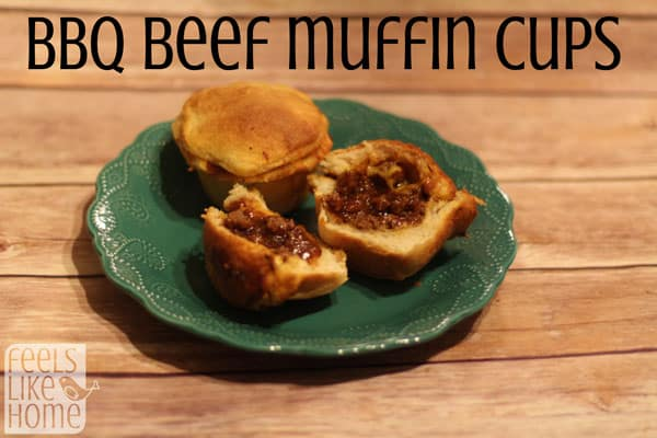 How to make BBQ beef muffin cups - A sweet and savory BBQ beef mixture tucked inside Grands! flaky biscuits! This simple and easy ground beef recipe for dinner or lunch is healthy and quick. Has just a few fast ingredients. Cheap and great for the budget and can be made with or without cheese. Baked in the oven.