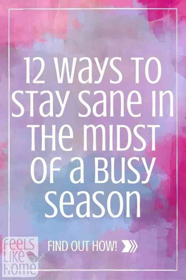 We are all too busy! How do you cope? What can you do to stay sane when you have no time to take care of yourself? Here are some great tips!