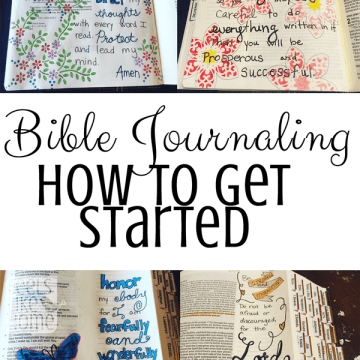 collage of Bible journaling photos