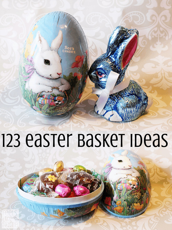 Easter basket ideas on a table