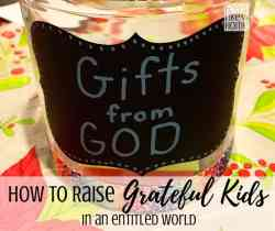 How to make a simple DIY gratitude jar craft for kids and families - This simple practice will change your life. Includes instructions, name ideas, and tips for making and using the jar. Could be used in the classroom or at home. Children love it!