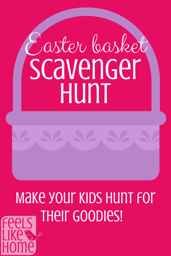 Free printable easter scavenger hunt feels like home this easter basket scavenger hunt includes free printable clues for kids or teens lots of negle Images
