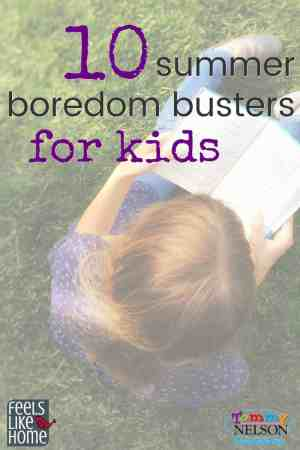 These 10 summer bored busters for boys and girls include rainy day activities, outside activities, crafts, and more! Your kids will love them!