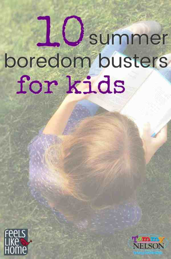 These 10 summer boredom busters for boys and girls include fun, play ideas, rainy day activities, outside activities, crafts, and more! Your kids will love them! Can be used to make a bored jar for children. Awesome ideas for babysitting, road trips, or anytime.