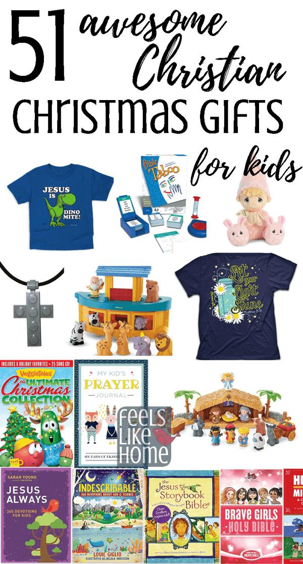 A collage of Christmas gifts for kids