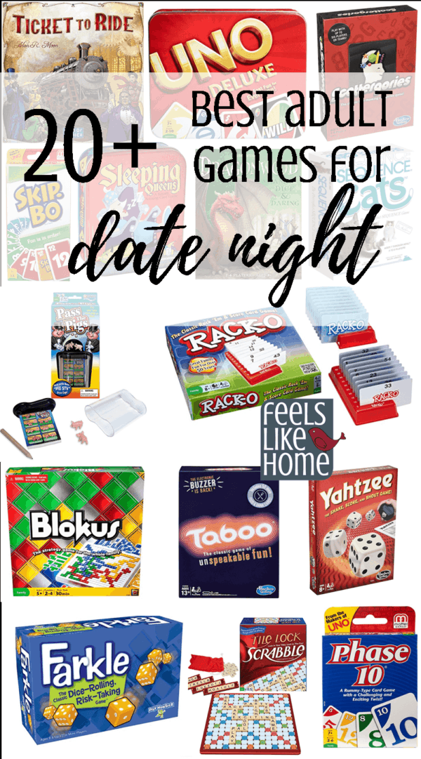 20+ best adult games for date night, but the whole family will enjoy these, even the kids!