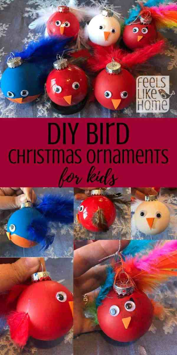 A collage of bird ornaments
