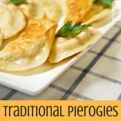 Traditional Pierogies with Butter and Onions
