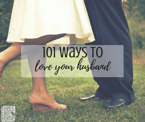 101 Ways to love your husband - A happy marriage doesn't just happen. You have to be intentional about romance and fun and these tips and ideas will help you woo any guy and make him feel like your boyfriend. Date nights, treats, acts of service, and lots of other advice.
