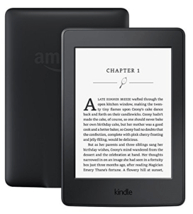 A close up of a Kindle