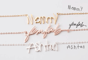 A signature necklace
