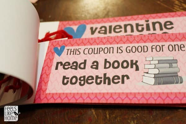 Free Printable Valentines Coupon Book for Kids - Feels Like Home™
