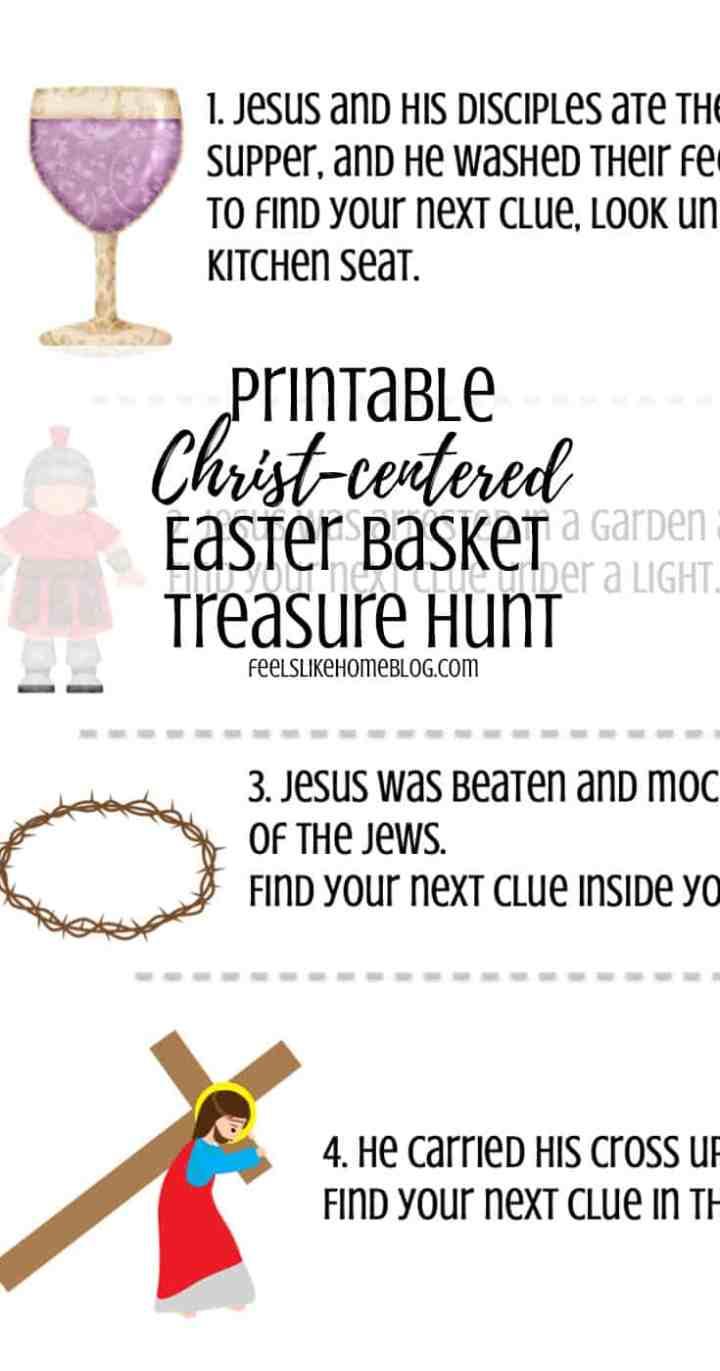 Printable Christ-Centered Easter Basket Scavenger Hunt