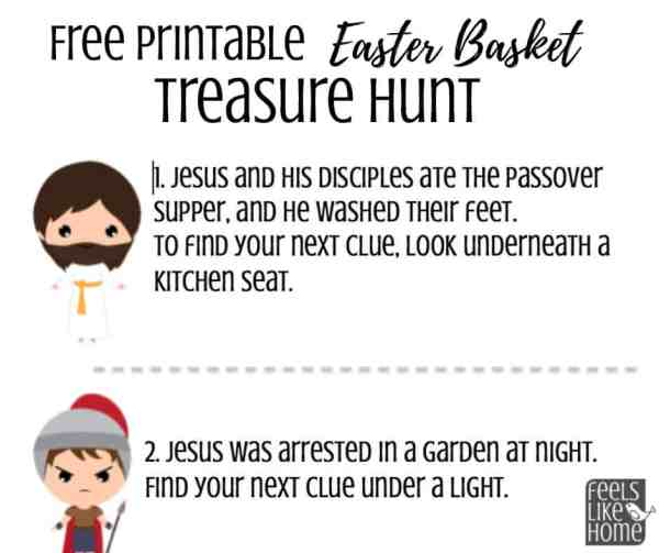 Free Printable Christ-Centered Easter Basket Scavenger Hunt - Feels ...