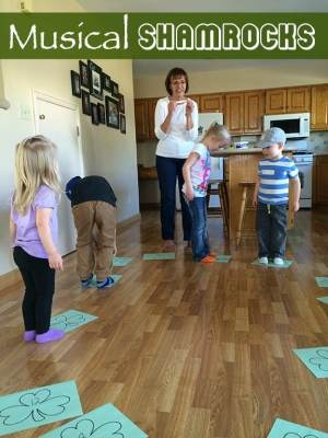 A group of kids playing a game