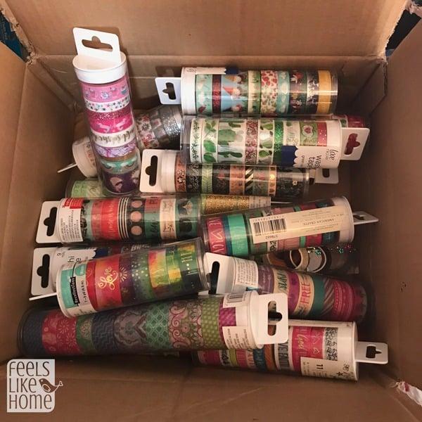 A box of washi tape