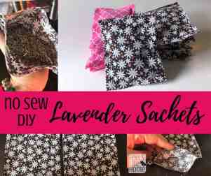 collage of lavender sachets