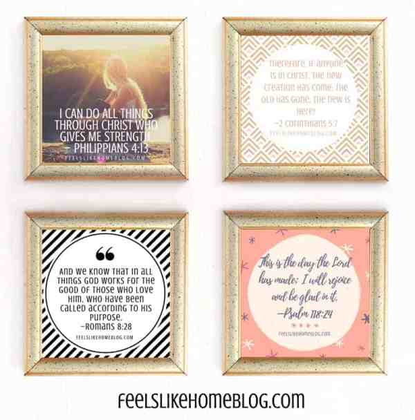 collage of scripture graphics