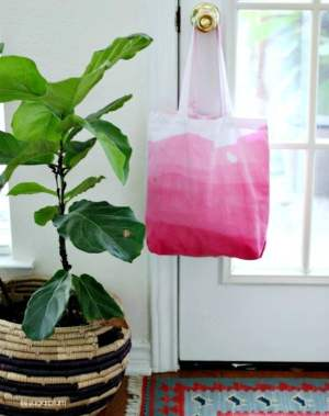 handmade dip dyed ombre bag
