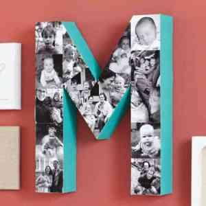 homemade monogram with photos