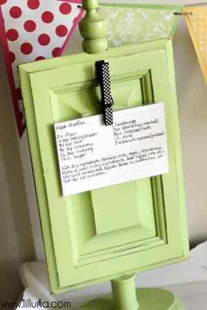 DIY recipe holder